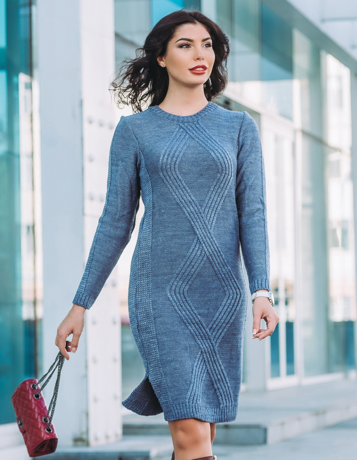 Платье вязаное 26101
